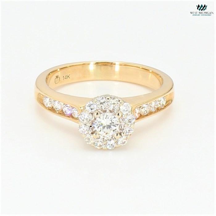 Flower Diamond setting Ring  R8688E